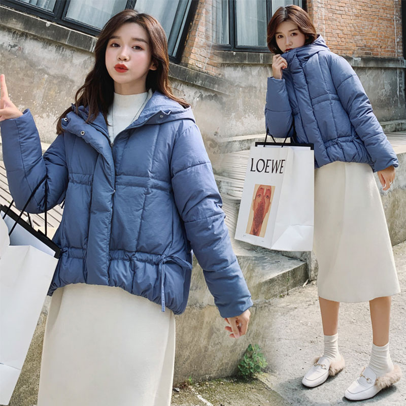 Chic Short Coat Women Hooded Bakery Oversize Winter Down Coat Heavy Jacket Thick Warm Cotton Padded Wadded Parkas Big Pocket