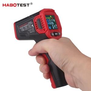 Image 3 - Infrarood Thermometer Digitale Weerstation Hygrometer Temperatuur Meter Vochtigheid Ambient Meter Laser Thermometre