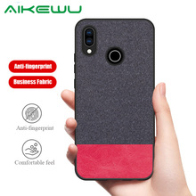 Business fabric cloth Case for Huawei P30 Pro case protective cover P20 Lite Soft frame