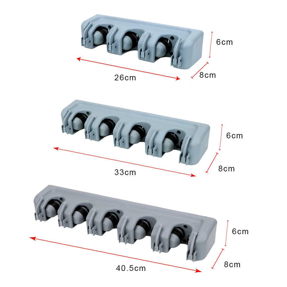 NICEYARD الحائط 3 أنماط تخزين حامل ماجيك البلاستيك حامل ممسحة حامل مكنسة متعددة الوظائف تخزين المطبخ