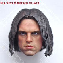 NEW 1/6 PVC Head Winter Soldier Bucky James Buchanan Barnes 2.0 Head Carved w the mask For 12