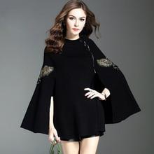 цены Women Stylish Cloak Coat Cape Jacket  Loose Thick Ponchos