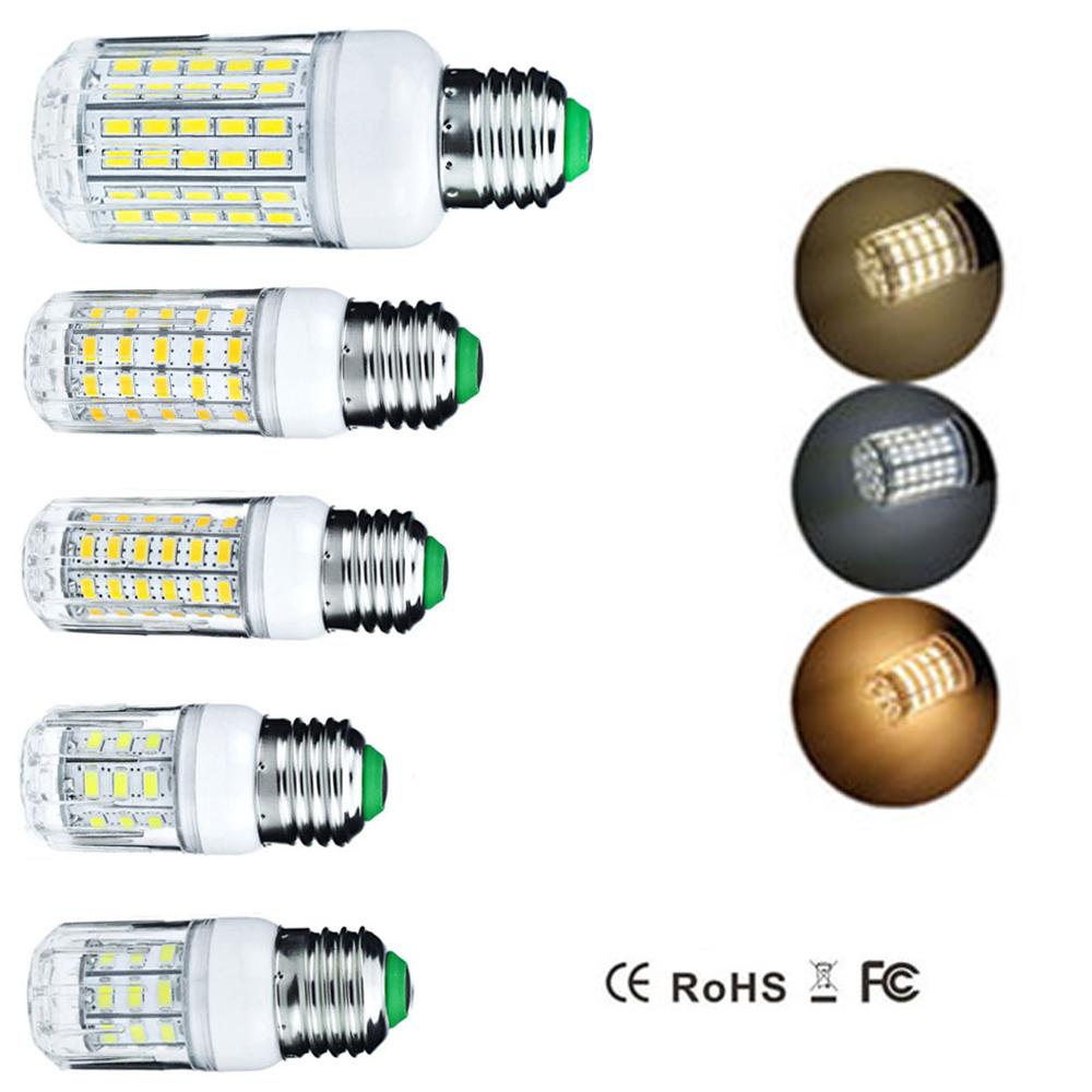 E27 LED Corn Light Bulb 5W 7W 9W 12W 15W 20W 25W 24 27 30 36 48 56 59 69 72 96LEDs Replace Compact Fluorescent Lamp CFL AC 220V