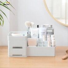 Desktop Drawer Cosmetic Storage Box Lipstick Dressing Table Skin Care Jewelry Plastic Dust Storage Organizer makeup organizer