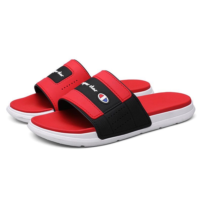 2020 New Style Flat Drag Thick Bottom Casual Men's And Women's Outdoor Beach Shoes Antiskid Simple Trend
