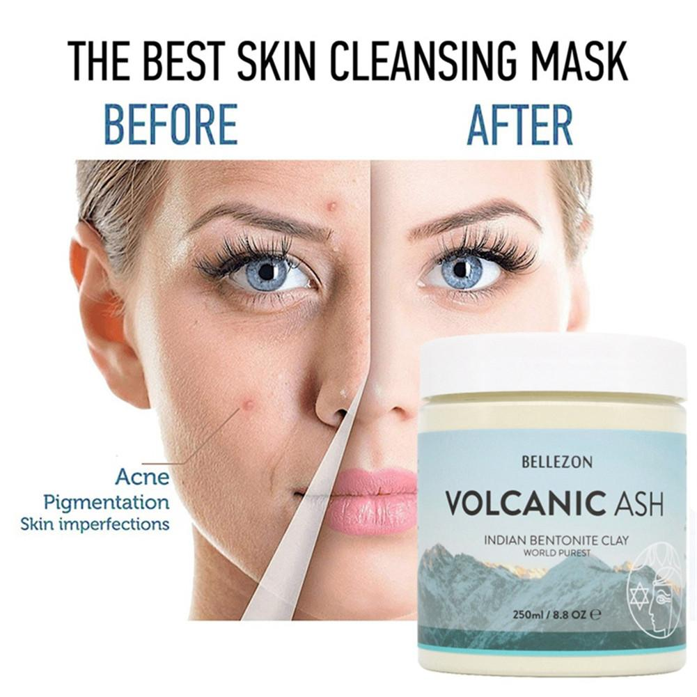 Volcanic Ash Indian Clay Facial Mask Skin Care Cleaning Hydrating Remove Blackhead Shrink Pore Nourishing Moisturizing Face Mask image