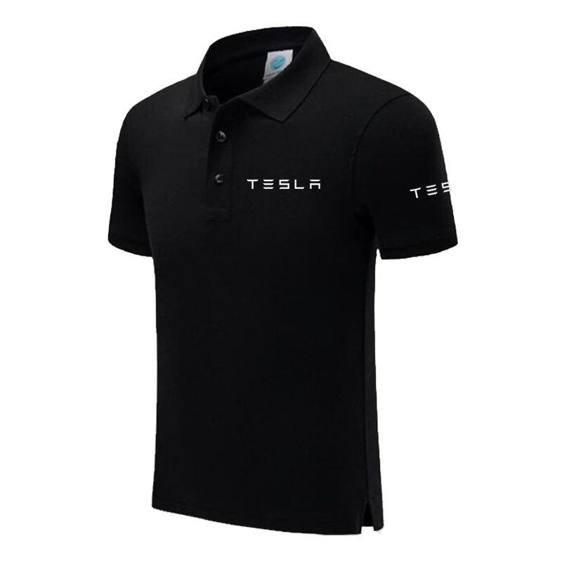 Men's Tesla Polo Shirt For Men Desiger Polos Men Short Sleeve Shirt Clothes Jerseyssic Male Brand Polos Shirts