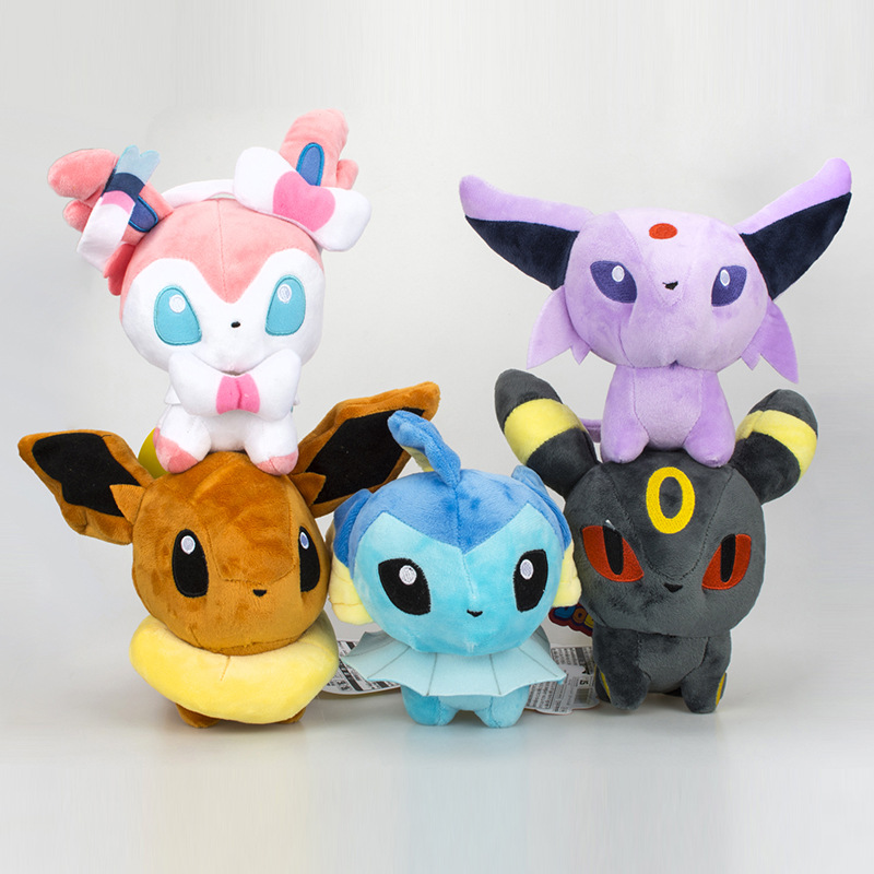 20cm Q Version Plush Doll Pokemon Eevee  Toys Pillow Filler  For Children Gift Pikachu  Toy