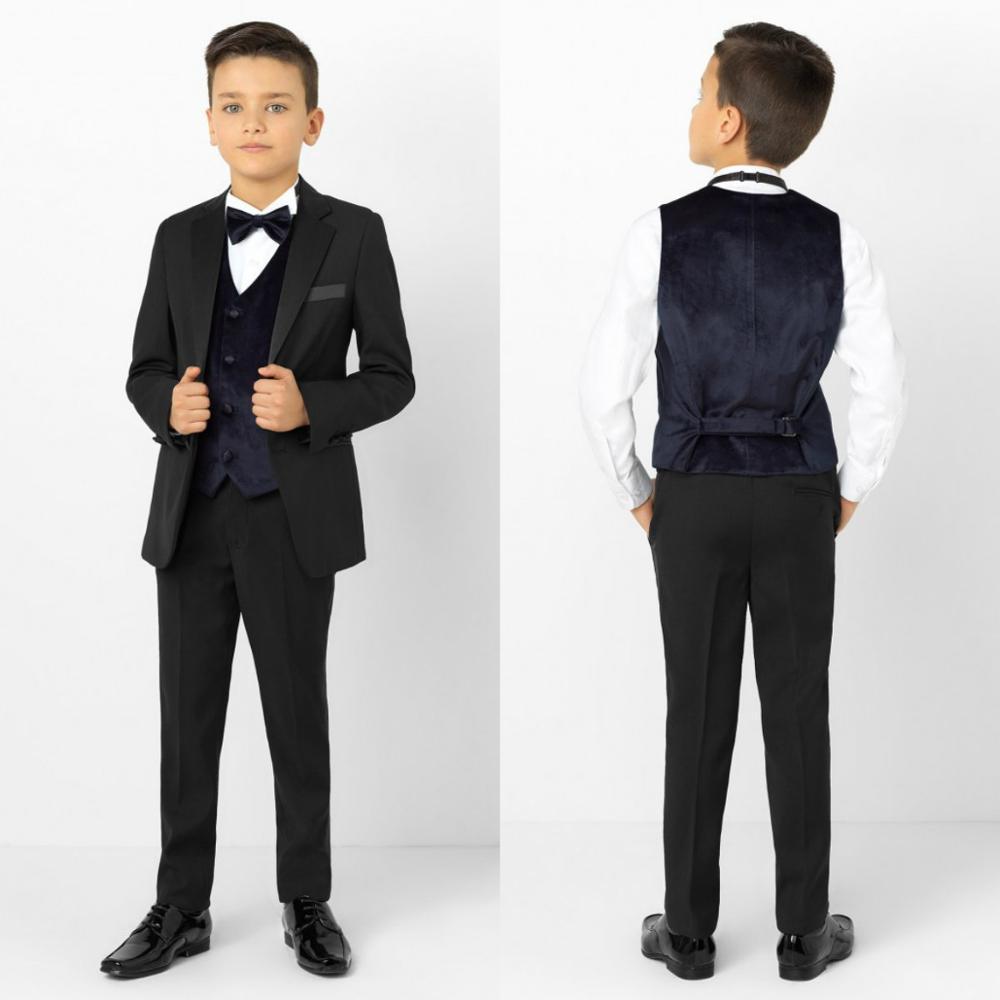 2020 New Kids Suits Blazers Baby Boys Custom Made Coat Suit Formal Wedding Wear Black 2 Pieces Children Clothing