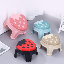1Pc Home Furniture Children Stools Cute Strawberry Low Stool, Thickened Non-slip Kindergarten Kids Footstool Chairs Supplies