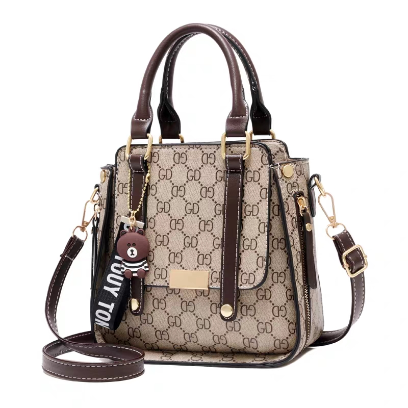 Retro luxury printing women's bag handbag PU leather shoulder bag ladies large capacity Messenger bag hot fashion Crossbod