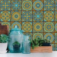 Mandala Retro Strip Tiles Wall Sticker Bathroom Kitchen Stair Table Decoration Wallpaper Waterproof Peel & Stick Art Mural PVC