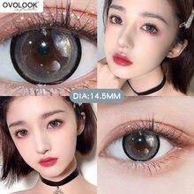 OVOLOOK-2pcs/pair 3 lentes coloridas bonitas da série do tom lentes de contato coloridas lente da cor dos olhos contatos da cor (diâmetro: 14.5mm)