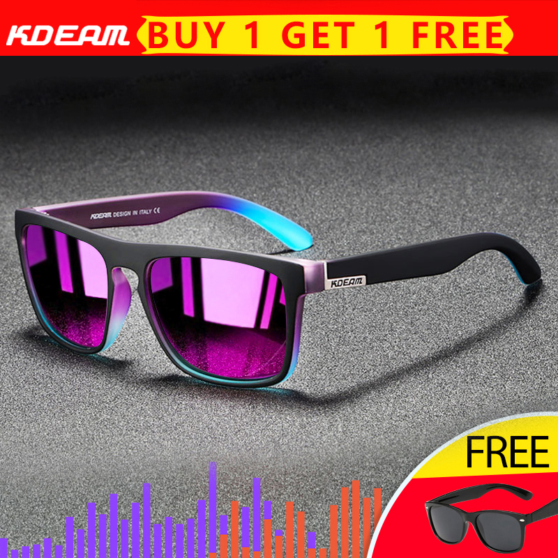 US $5.4 54% OFF|2020 New KDEAM Mirror Polarized Sunglasses Men Ultralight Glasses Frame Square Sport Sun Glasses Male UV400 Travel Goggles CE X8|Men