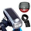 Солнечная велосипедная фара для подзарядки велосипедная лампа ночной езды фонарь Аксессуары для велосипеда велосипедный светильник