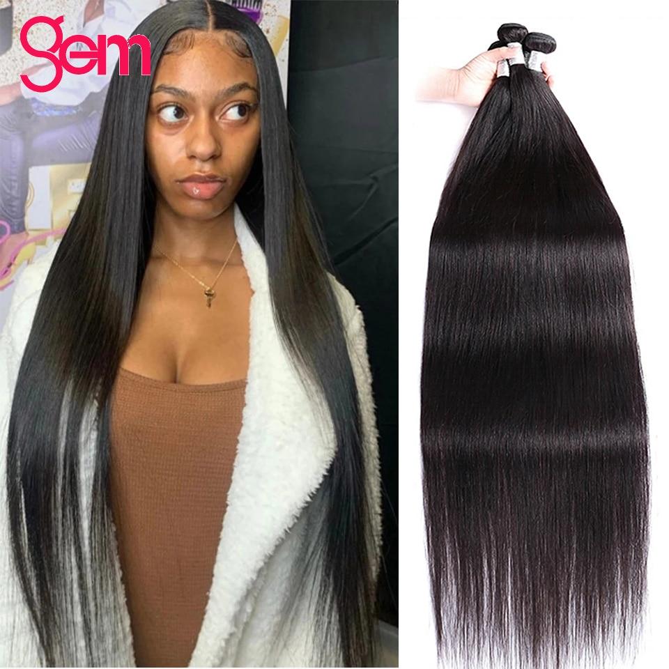 40 inch Straight Bundles Brazilian Hair Bundles Hair Weave Silky Hair 3 4 Bundles Deal Bone Straight Human Hair 30 Inch Bundles
