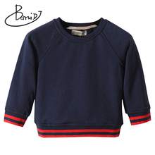 цена на 2019 autumn kids modis sweater Boys girls O-Neck sweaters striped Cotton pullover sweaters baby Top clothes Children clothing