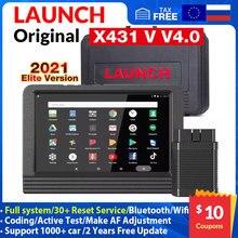 2021 LAUNCH X431 V4.0 Car Full System ECU reset Scanner ECU Coding Automotive OBD Key Programming Professional Car OBD2 Scanner