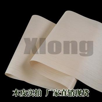 L:2.5Meters Width:55cm  Thickness:0.2mm Technology Water Wash White Oak Straight Grain Wood Skin Solid Oak Wood Skin