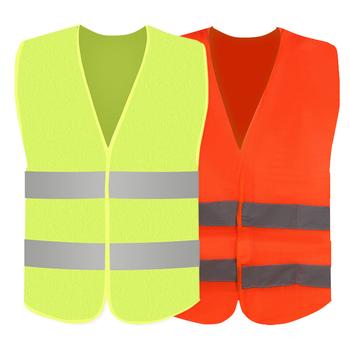 Wysoka widoczność kurtka samochód odblaskowe bezpieczeństwo Ves pasek kamizelka pasek odblaskowy kamizelka samochód awaryjny kamizelka odblaskowa fluorescencyjna siatka tanie i dobre opinie CN (pochodzenie) car reflective strip vest Bulk Green Orange 57 x 67CM Dropshipping wholesale