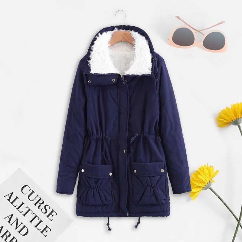 PUIMENTIUA 冬コートの女性のファッションブランドルース生き抜くファム中 · 長期キルトジャケット綿パーカー Mujer プラスサイズ