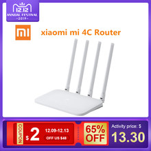 Xiaomi Mi WIFI Router 4C 64 RAM 802.11 b/g/n 2.4G 300Mbps 4 Antennas Smart APP Control Band Wireless Routers Repeater(China)