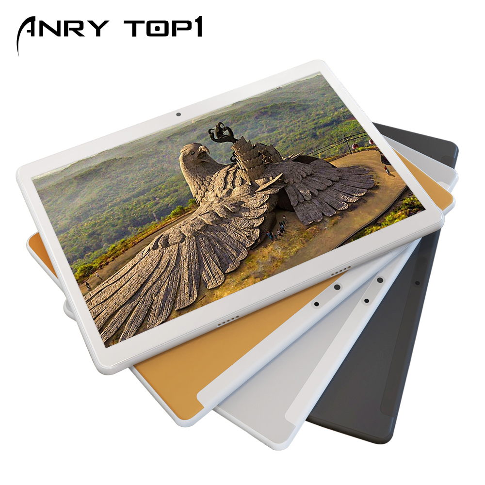 ANRY Original 4G LTE Phone Call Tablet 10 Inch Octa Core 4G+64G Android 7.0 Tablet Pc WiFi Bluetooth Dual SIM Cards IPS LCD 10.1