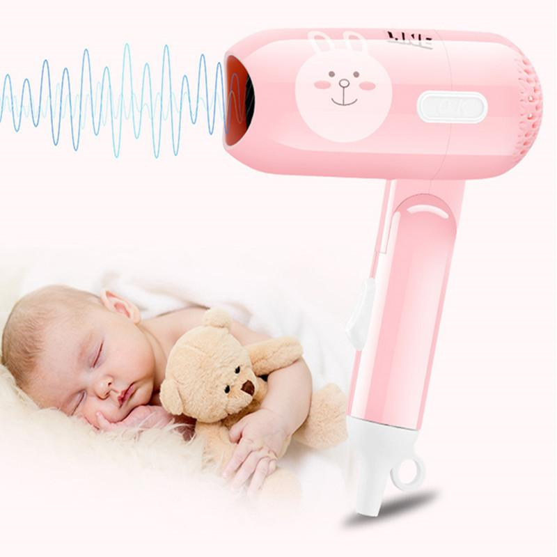 Kemei US Plug Mini Folding Cartoon Hair Dryer Small Power Portable Traveling Household Hair Dryer