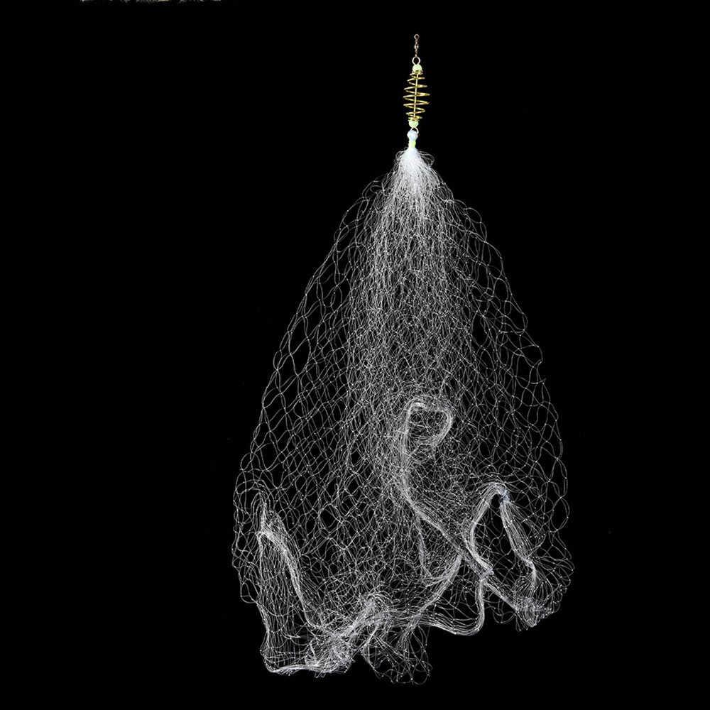 1 個フィーダトラップネットフィッシュネット漁網トラップメッシュ発光ビーズ金属春ショールネッティングと餌タックルメッシュ