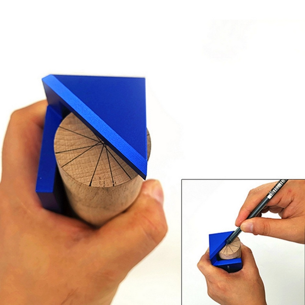 45/90 Degrees Woodworking Scriber Round Center Line Ruler Protractor Aluminum Alloy Marking Gauge Woodworking Tools