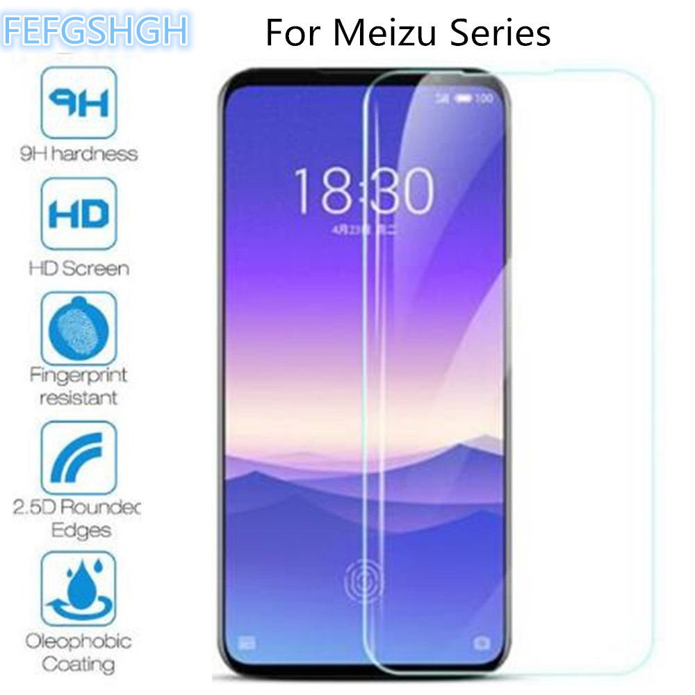 2PCS Tempered Glass For Meizu Note 9 8 C9 Pro M8 Lite X8 V8 M8C M6T M6S 16S 16XS M 8C V 8 6T 6S Screen Protector Protective Film 1
