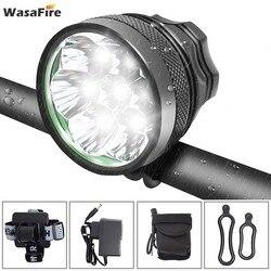 Wasafire 10000 Lumen Đèn Xe Đạp 7 * XML T6 Xe Đạp Đèn Pha Xe Đạp LED MTB Trước Xe Đạp + Pin Sạc 18650 bộ Pin