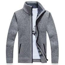 Kazak erkekler sonbahar kış hırka SweaterCoats erkek kalın Faux kürk yün erkek kazak ceketler Casual triko artı boyutu M-4XL