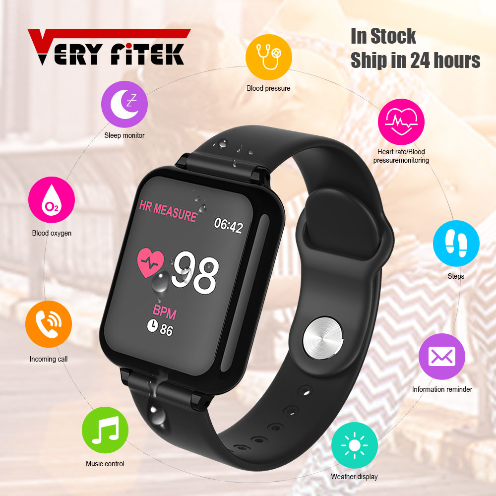 VERYFiTEK B57 Smart Watch Blood Pressure Oxygen Fitness Bracelet Watch Heart Rate Monitor IP67 Men Women Sport Smartwatch B57 1