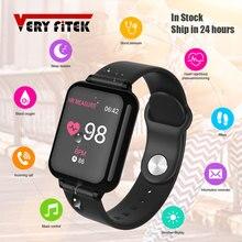 Veryfitek B57 スマート腕時計血圧酸素フィットネスブレスレット腕時計心拍数モニター IP67 男性女性スポーツスマートウォッチ B57