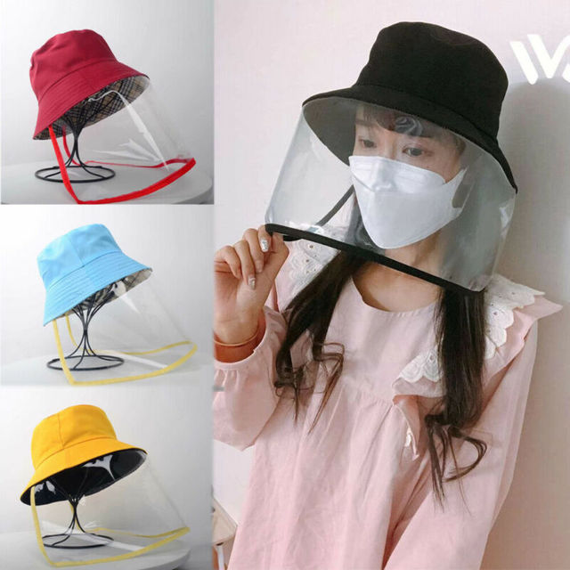 Dropship Anti-saliva Dust-proof Hat With Mask Safety Transparent Protective Mask Plastic Anti-fog Saliva Hats Face Shields Mask 1