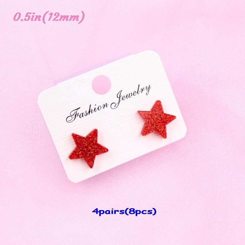 red glitter-12mm