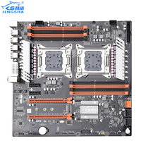 JINGSHA X79 Dual CPU Motherboard LGA2011 SATA3.0 ATX 8 Channel DDR3 X79 Dual Motherboard Dual Gigabit Ethernet Up to 25