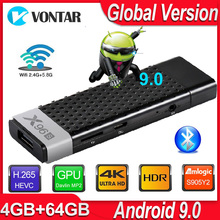אנדרואיד 9.0 טלוויזיה תיבת X96S טלוויזיה מקל חכם מיני מחשב DDR3 4GB RAM Amlogic S905Y2 2.4G/5G WiFi Bluetooth 4.2 4K אנדרואיד הטלוויזיה Media Player