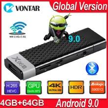 Android 9.0 TV, pudełko X96S TV Stick inteligentny Mini PC DDR3 4GB RAM Amlogic S905Y2 2.4G/5G WiFi Bluetooth 4.2 4K Android TV odtwarzacz multimedialny