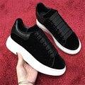 Cabeça redonda plataforma plana sapatos femininos laço preto sapatos casuais celebridade conforto sapatos vinho tinto 35-44