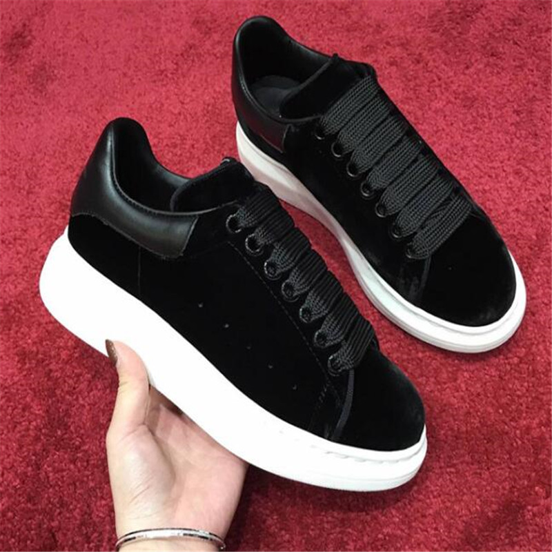 round head flat platform women's shoes black lace casual shoes celebrity comfort shoes wine red 35 44