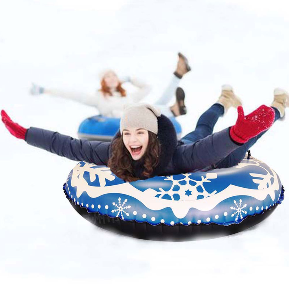 Inflatable Toy Durable Family Adults Childern Games Raft Winter Outdoor PVC Snow Tube Sturdy Ski Circle Sports With Handle