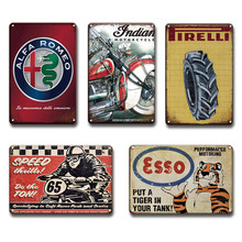 Vintage Ford Esso Olie Metalen Poster Emaille Borden Retro Chevrolet Bsa Guif Goede Jaar Metalen Teken Chic Garage Man Cave thuis Wall Decor(China)
