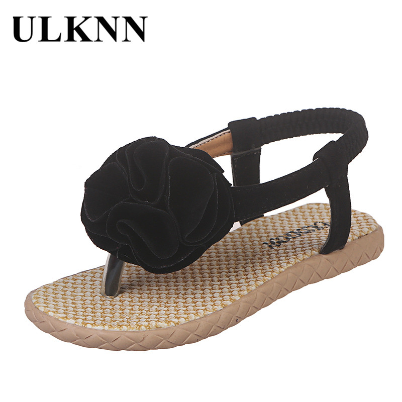 ULKNN Flowers Toddler Sandals Summer Baby Girls Shoes Toddler Infant Beach Sandals Flowers  Princess Shoes Sandals For Children