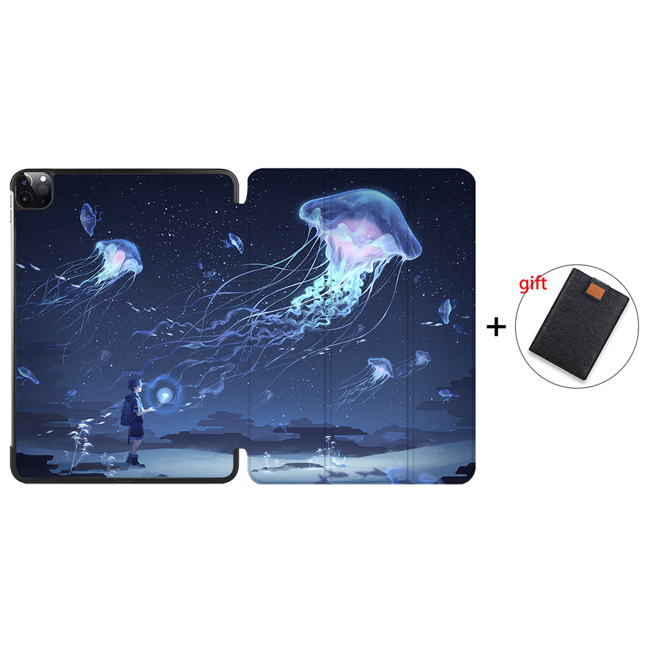IP17 Khaki MTT Case For iPad Pro 11 inch 2nd Gen 2020 Funda A2228 A2231 Slim PU Leather