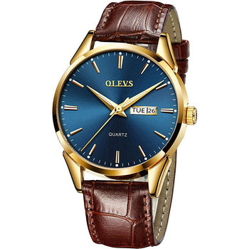 OLEVS Men Watche Top Brand Luxury Fashion Bussness Breathable Leather Luminous Hand Quartz Wristwatch Gifts for Male - discount item  40% OFF Men's Watches