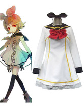 Can be tailored VOCALOID Cos Hatsune Miku Cosplay Kagamine Rin/len Cos Woman Cosplay Costume Dress+Tie Bow+Headdress kisstyle fashion vocaloid gumi happy synthesizer uniform cos clothing cosplay costume customized accepted