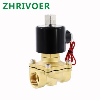 цена на DN15 Normally Open N/O Brass Electric Solenoid Valve 12V 24V 220V 110V Pneumatic Valve for Water Oil Gas 1/4 3/8 1/2 3/4 1