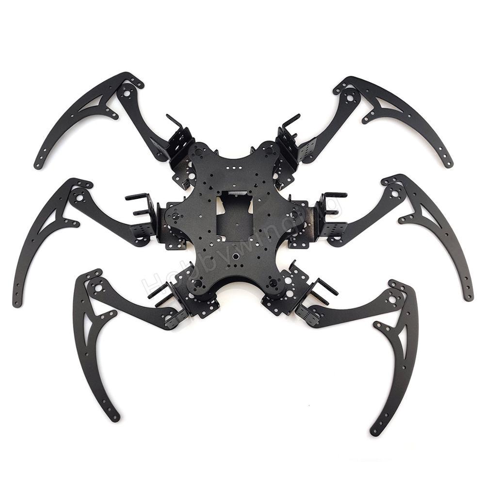 Classic Hexapod  Spider Robot Bracket Set 18DOF Six-Legged Aluminium Alloy Bracket Kit- No Servos Set